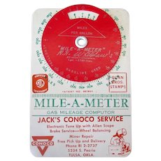 Vintage Mile-A-Meter Computer with Oklahoma Conoco Advertising