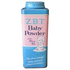Vintage Talc Tin - Z.B.T. Baby Powder Tin
