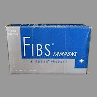 Vintage Kimberly-Clark Kotex Fibs Tampons Box – Fun Bathroom Memorabilia