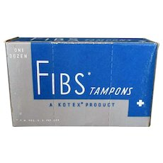 Vintage Kimberly-Clark Kotex Fibs Tampons Box – Fun Bathroom Memorabilia