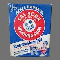 Vintage Arm & Hammer Sal Washing Soda Advertising Sample Box