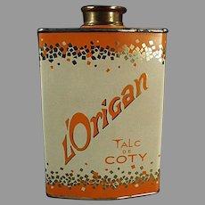 Vintage Coty Talc Tin - Perfumed L'Origan Powder Tin