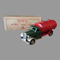 Vintage Tri-Ang Minic Petrol Tank Lorry Gas Truck with Original Box