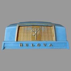 Vintage Bulova American Girl Wrist Watch Display Box – Blue Plastic