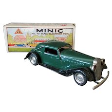 Vintage Tri-ang Minic Vauxhall Cabriolet 19M with Box -  Tin Wind-Up Car