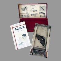 "Vintage Allegro - Model ""D"" Razor Blade Sharpener Honing Stropping Machine with Original Box"