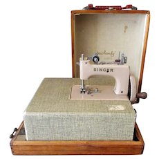 Child's Vintage Sewing Machine with Table Case - Singer Sew Handy