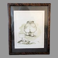 Framed Vintage Patterson Print – Humorous Water Hazard Golf Woes