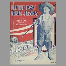 Vintage 1928 Sheet Music by Gus Kahn - Little Boy Blue Jeans