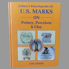 Vintage Hardbound Reference Book – 1988 Lehner's Marks on Pottery, Porcelain & Clay