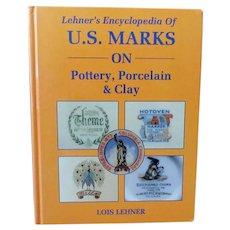Vintage Hardbound Reference Book – 1988 Lehner's Marks on Pottery, Porcelain & Clay