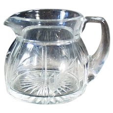 Vintage Heisey Glassware Creamer - #411 Rib and Panel with Cut Design