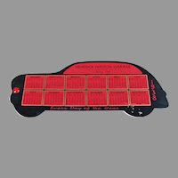 Vintage 1938 Celluloid Ink Blotter with Hudson Car Advertising and Calendar