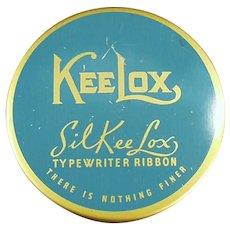 Vintage Typewriter Ribbon Tin - SilKee Lox KeeLox
