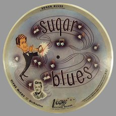 Vintage 7#R707 Vogue 78 Picture Record - Basin Street Blues and Sugar Blues