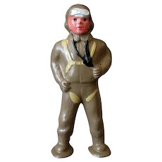 Vintage Barclay Slush Cast Toy Soldier - #941 Aviator - Fine Original Condition