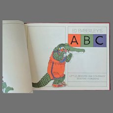 Vintage 1978 Ed Emberley's Creative ABC Book – First Edition - Educational and Fun