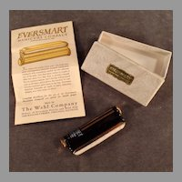 Vintage Eversmart Manicure Compact with Original Box - 1924 - Black and Gold