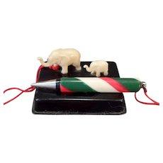 Vintage Miniature Celluloid Elephants - Desk Top Pencil Holder – Japan