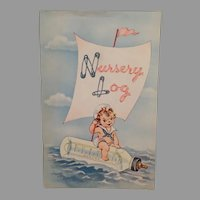 Vintage Baby Nursery Log Book – Child Growth Booklet with Cute Graphics