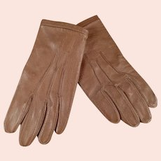 Very Small Vintage Leather Gloves - Child or Large Doll Size - Fownes London