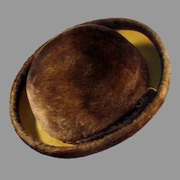 Ladies Vintage Brown Couleurs du Sol Plush Littler Felt Hat