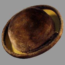 Ladies Vintage Brown Couleurs du Sol Plush Littler Felt Hat