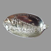 Vintage Sterling Silver Souvenir Spoon with San Gabriel California Mission