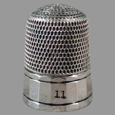 Vintage Sterling Silver Sewing Thimble - Size 11 Simons Brothers