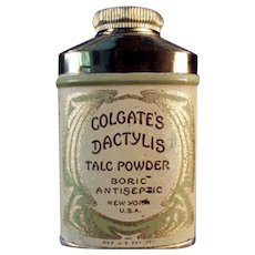 Vintage Sample Dactylis Powder Tin - Colgate Talc Tin