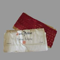 """48"""" Length of Vintage Tatted Edging – Red Thread Lace Tatting"""