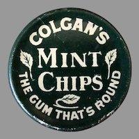 Vintage 1910 Colgan's Mint Chips Gum Tin