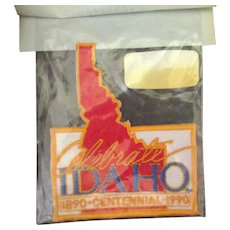 Vintage Idaho Centennial Iron-On Fabric Patch with Original Package