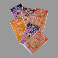 Vintage Jolly Aid Soft Drink Packets with Clown Graphics - Different Colors & Flavors