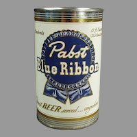 Vintage Pabst Blue Ribbon Beer Can Promotional Tin Advertising Bank