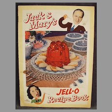 Vintage Jell-O Recipe Booklet - 1937 Jack Benny & Mary Livingstone Comic Strip Format