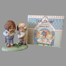 Vintage 1988 Dolly Dingle You Reap What You Sow Porcelain with Box