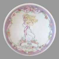 Vintage Enesco Precious Moments - Little Namesake Plate with Original Box - Ann