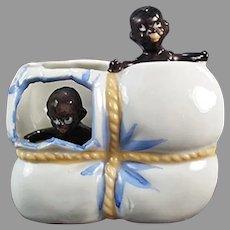 Vintage Black Memorabilia - Babies in Cotton Bale Porcelain Whimsy
