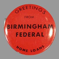 Vintage Advertising Tape Measure - Birmingham Federal Savings & Loan Bank