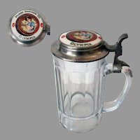 Vintage Glass Beer Stein - Olympia Pilsen Brewing Co. - Chicago Brewery 1900's Advertising