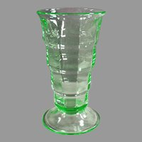 Vintage Soda Fountain Glass- Green Paden City Malt Glass - Two Available