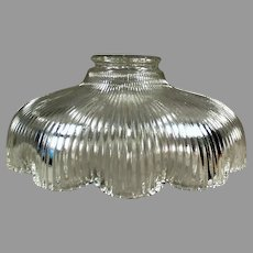 Single Vintage Light Fixture Shade with Scalloped Edge - Shallow