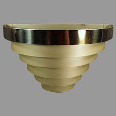 Vintage Deco Style Wall Fixture Sconce Electric Light - Tiered Banded Metal