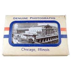 Vintage Chicago Souvenir Photo Pack Mailer - Old Black & White Photographs