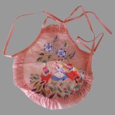 Vintage Alice in Wonderland Tweedledee Tweedledumb Doll Apron – Pink Vinyl