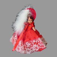 Vintage Nancy Ann Storybook Doll - Pretty Scarlet Red Outfit – Hard Plastic