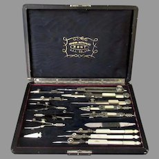 Vintage Kent Drawing Instruments Set – Inking Pens & Other Drafting Tools with Case