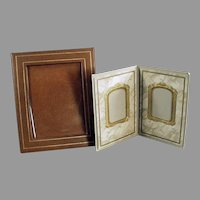 Two Vintage Photograph Picture Frames - Simple Frames for a Desk or Mantle
