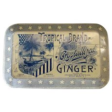 Vintage Candy Tin - Tropical Brand Crystallized Ginger – Very Nice Graphics
